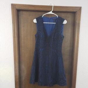 BCBG Navy embellished dress